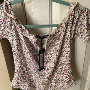 Nasty gal floral bodysuit